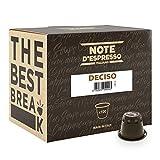 Note d'Espresso - Lot de 100 capsules de café Deciso compatibles avec machine Nespresso, 100x5,6g