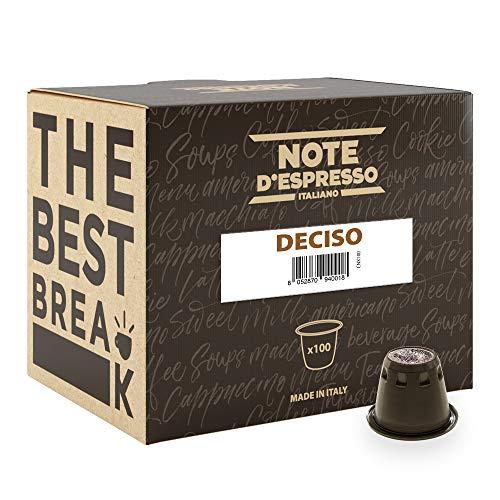 Note D'Espresso - Cápsulas de café 'Deciso' exclusivamente compatibles con cafeteras Nespresso*, 5,6g (caja de 100 unidades)