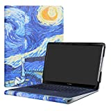 Alapmk Diseñado Especialmente La Funda Protectora de Cuero de PU para 14' ASUS ZenBook 3 Deluxe UX490UA Series Ordenador portátil,Starry Night