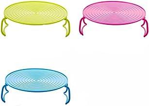 Kentop 1PCS Microondas Horno Bandeja Plegable Accesorio de Cocina Rack para Cocinar al Vapor(Color al azar)