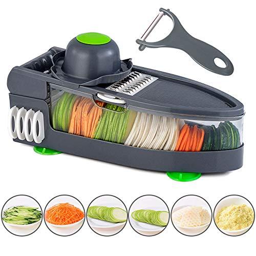 Voedsel Rasp Grade Julienne Slicer Roestvrij Verstelbare Mandoline Slicer Cutter voor Knoflook Kool Wortel Aardappel Tomaat Fruit, Salade