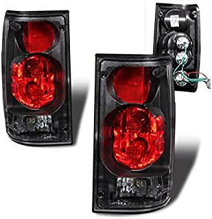 SPPC Black Euro Tail Lights Assembly Set for Toyota Pickup - (Pair) Includes Driver Left and Passenger Right Side Replacement