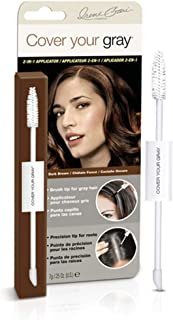Cover Your Gray 2in1 Mascara Wand and Sponge Tip Applicator - Dark Brown