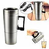 C-FUNN 12V 300Ml Portatile in Macchina Caffettiera Tea Pot Thermos Riscaldamento Tazza Cop...
