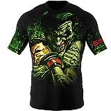 SMMASH Choker Rashguard Hombre Manga Corta, Camisetas Hombre para MMA, Artes Marciales, Krav Maga, BJJ, K1, Karate, Material Transpirable y Antibacteriano, (M)