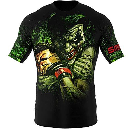 SMMASH Choker Rashguard Hombre Manga Corta, Camisetas Hombre para MMA, Artes Marciales,...