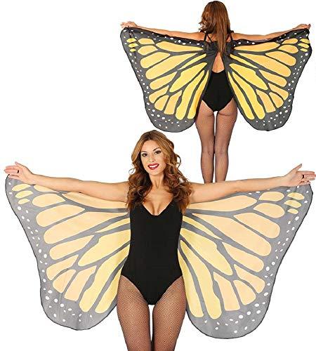 shoperama Alas de mariposa para mujer, accesorio de disfraz, accesorio de mariposa