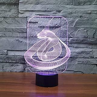 Lámparas nocturnas en 3D, lámparas de escritorio, productos electrónicos creativos para el hogar de Snake King