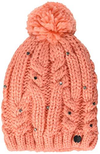 Roxy Sundancing-Bonnet à Pompon Fille, Fusion Coral, FR Unique (Taille Fabricant : 1SZ)