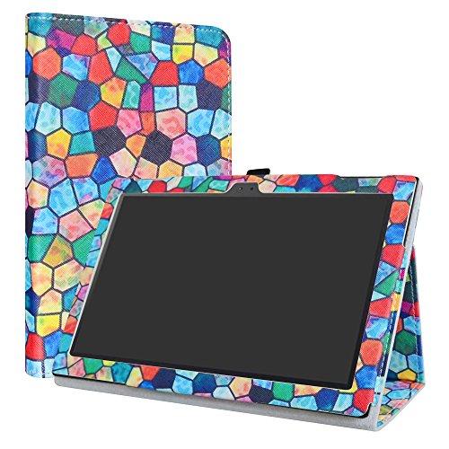 Lenovo Tab 4 10 Funda,LiuShan Folio Soporte PU Cuero con Funda Caso para 10.0' Lenovo Tab4 10 Android Tablet,Stained Glass