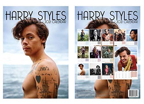 Harry Styles A3 Calendar 2021 + Harry Styles Fridge Magnet