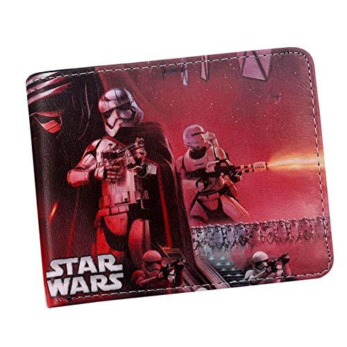 Cartera Star Comics Vader 3D Short Wallet Bi-Fold Men Purse Young Students Portatarjetas, Sw-15
