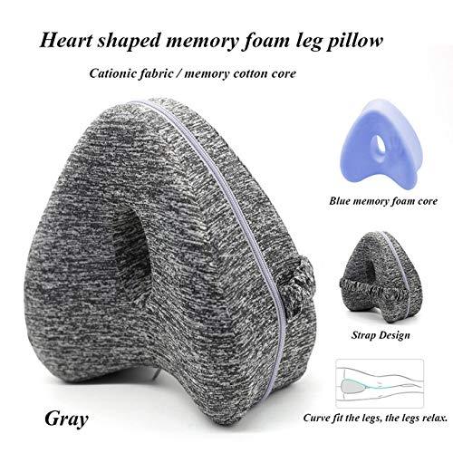 WYSTLDR Leg Pillow Sleeping Memory Foam Leg Positioner Pillows Knee Support Cushion The Legs For Hip Pain Sciatica Body Pillows