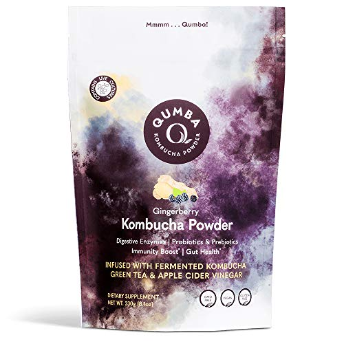 Qumba Kombucha Powder Probiotic Supplement, Immune Support &...