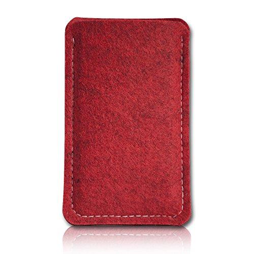 sw-mobile-shop Filz Style Lenovo Tablet A7-40 - 7 Zoll Filz Tablet Tasche Hülle Etui Einschubtasche passgenau für Lenovo Tablet A7-40 - 7 Zoll - Farbe rot - schwarz