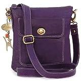 Catwalk Collection Handbags - Cuir Véritable - Petit Sac à Main/Sac Bandoulière/Sac...