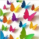 Envío Gratis 30 Unids/set Pvc 3D Mariposa Decoración de Pared Mariposas Lindas Pegatinas de Pared Arte Tatuajes de Decoración Del Hogar Pegatinas De Pared