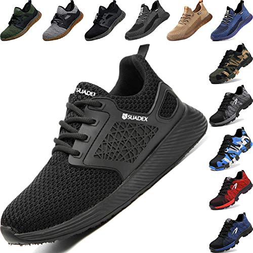 BAOLESME Herren Sportschuhe Atmungsaktiv Gym Laufschuhe Leichtgewicht Turnschuhe Freizeit Outdoor Sneaker, 04 Schwarz, 43 EU