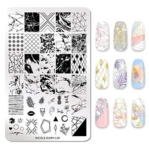 Fayella Nail Stamping Plate Animal Flower Palm Tree Stamp Image Templates Printer Nail Art Stencil Plate Nails Tool,46780