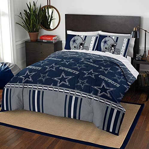 Officially Licensed NFL Dallas Cowboys Queen Bed In a Bag Set, 86