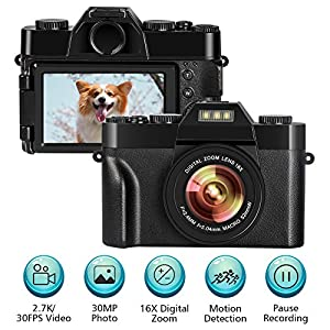 Cámara Digital Camara de Fotos 24MP Ultra HD 2.7K WiFi Camara ...