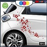 Stickers pour Voiture–Fleurs et farfalle- Voiture Machine–Nouveauté. Auto Moto, Stickers, Van Camper Decal Rouge