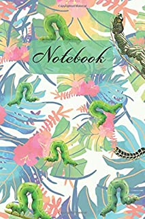 Notebook: Caterpillar Hungry And Colorful Leaves - Diary / Notes / Track / Log / Journal , Book Gifts For Dad Mom Boys Girls Friends Kids Teens 6x9