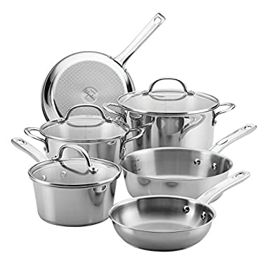 Ayesha Curry Home Collection Stainless Steel Cookware Set, 9-Piece