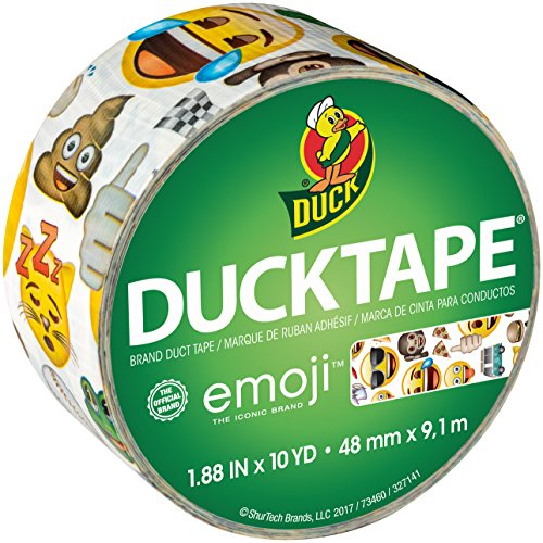 Duck Brand 241784 Printed Duct Tape, 1.88 Inches x 10 Yards, Emoji