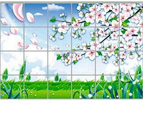 Graz Design - Adhesivo decorativo para pared, diseño de flores