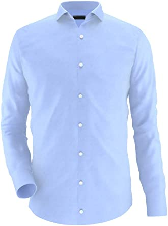 Noldemann - Camisa de Vestir de Alto Rendimiento Azul Claro ...