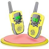 Fairwin Walkie Talkies para Niños, Juguetes para Niños de 3-12 Años LCD de 8 Canales Linterna Incorporada 3 Millas para Aventuras al Aire Libre, Camping, Hiking