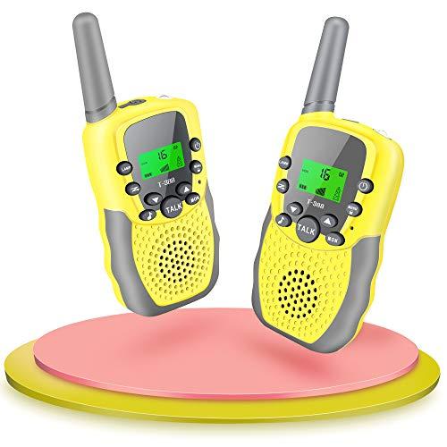 Fairwin Talkie Walkie Enfants, 3km 8+ Canaux Écran LCD Lampe de Torche Cadeau Jouet Talkie Walkie pour Enfants pour 3-12 Ans pour Garçons Filles