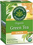 Traditional Medicinals Organic Green Tea Ginger Tea (Pack of 6), Promotes...