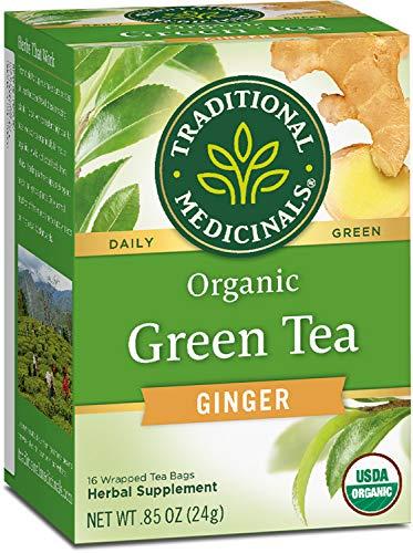 Traditional Medicinals Organic Green Tea Ginger Tea (Pack of 6),...