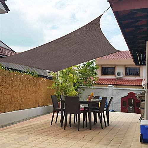 Rectángulo De Jardín Sombra Sombra De Sol A Prueba De Agua 98% UV con Toldos De Toldos con 4 Cuerda Libre(Size: 3x4m/118x157.5in)