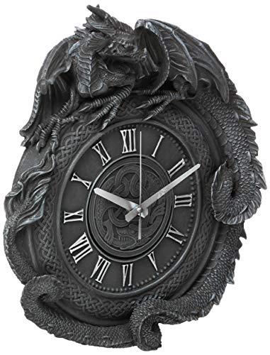 Design Toscano CL2766 Penhurst Dragon Clock,Greystone