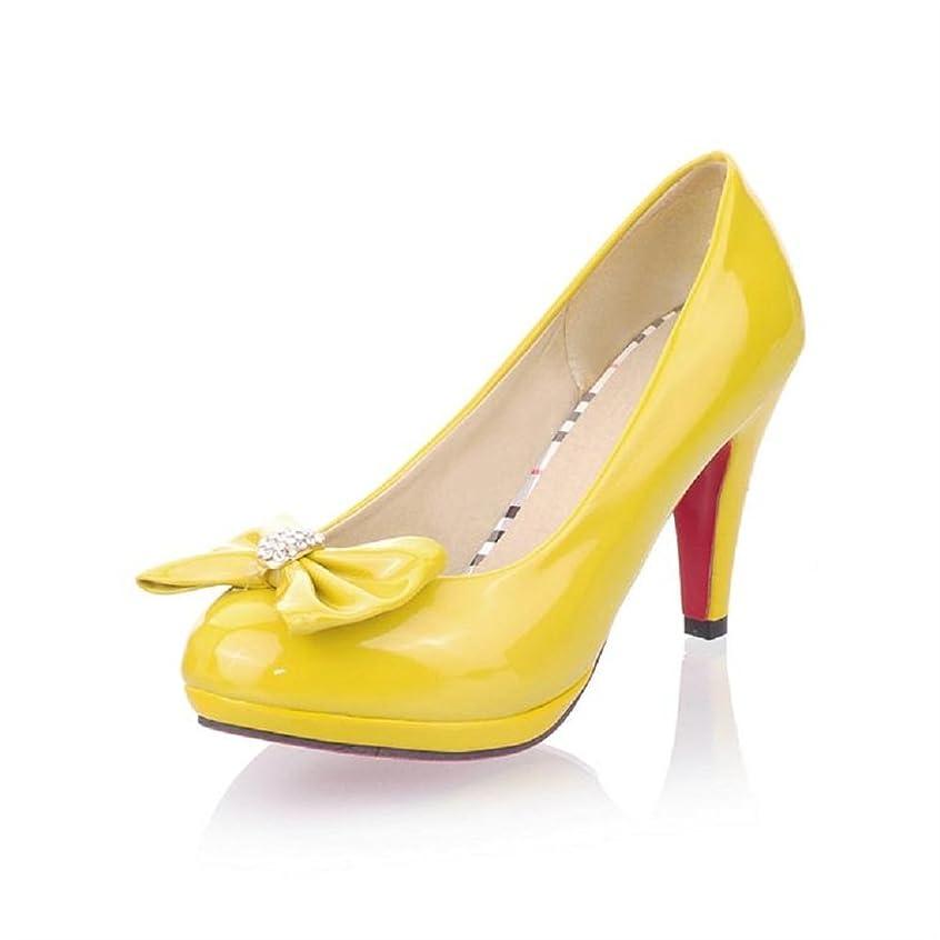 広げる回答戦闘[Charm Foot] チャーム足ファッションBowsレディースプラットフォーム高ヒールMary Jane Pumps