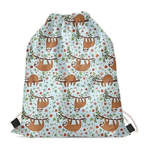 chaqlin Lindo bebé perezoso bolsa de cordón cinch bolsas de gimnasio mochila de almacenamiento para niños niños escuela gimnasio viaje natación mochila de día