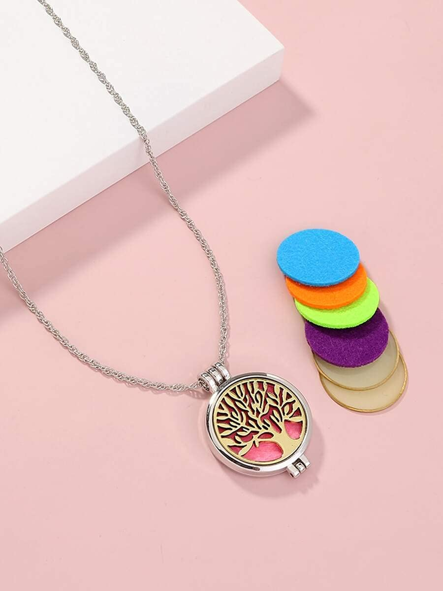 AXJTNL New arrival Necklace Pendant 1pc Open Locket A with 7pcs DIY excellence