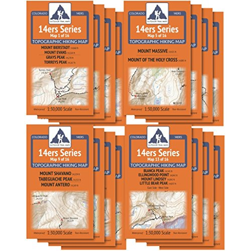 Outdoor Trail Maps Colorado 14ers Complete 16 Map Pack - All 58 Colorado Fourteeners