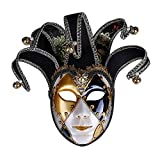 Máscara Veneciana de Rostro Completo Mascarada para Mujeres u Hombres Colección de Arte Decorativo de Pared Pintada a Mano para Fiesta de Baile Mardi Gras