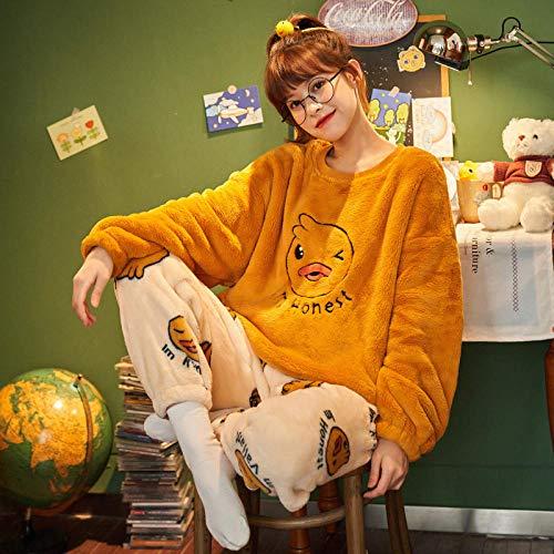 Cxypeng Damen Schlafanzüge Einfarbige,Langärmeliger Pullover-Pyjama aus...