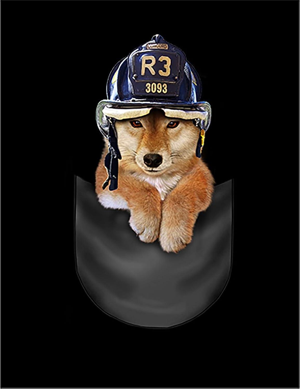 Fox Republic 柴犬 消防士 ポケット 犬 ピンク キッズ パーカー シッパー スウェット トレーナー 130cm
