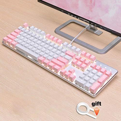 Inglés / PBT Languag KeyCaps opciones de color rusos Variedad de cereza MX teclado mecánico de teclas puede activar tapa 108 Keyscaps,ABS polvo blanco
