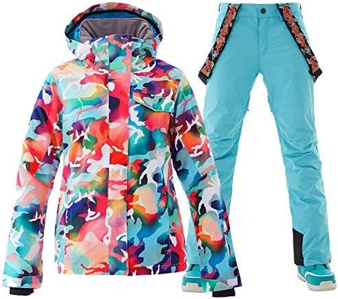 GSOU SNOW Womens Ski Suit Snow Suit Women Waterproof Ski Jackets Warm Coat Snow Jacket and Pants product image