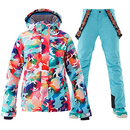GSOU SNOW Ski Jacket Womens Ski Suit Snow Suit Women Snowboard Jacket...