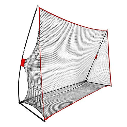 CaoDquan Baseball Practice Net 7x7 Feet Portable Baseball Practice Net Foldable Softball Net (Color : Red, Size : 7x10 Feet)