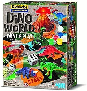 4M 403400 Kidzlabs GameMaker-Dino World, Multi Colour