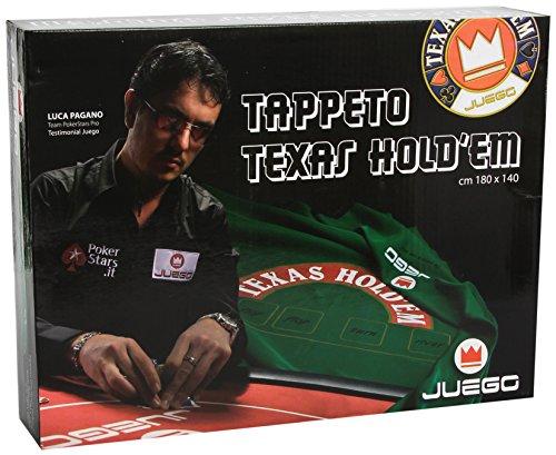 Juego JU00604 Texas Hold'em Pokerteppich 180 x 140 cm - Grün